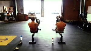 Jeff and Josh Rowing