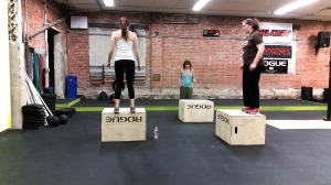 girls box jumps