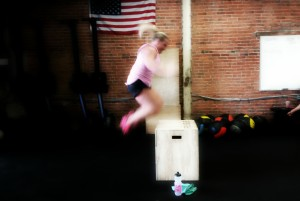 Crossfit WOD box jumps