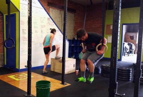 Muscle ups & box jumps in Buffalo, NY