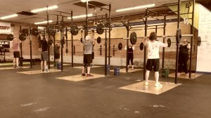 Overhead press at Harborside Crossfit