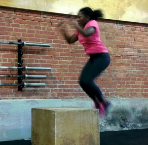 Box jumps at Harborside Crossfit