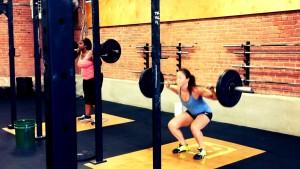 Back squats at Harborside Crossfit