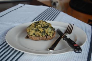 Spinach & Artichoke Stuffed Portobello Mushrooms