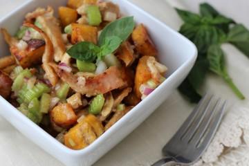 Honey Mustard Crunchy Chicken Plantain Salad